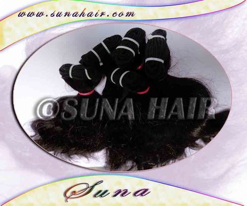 Premium quality not sedding weft curly remy virgin hot hair