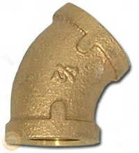 Brass 45 Degree Elbow