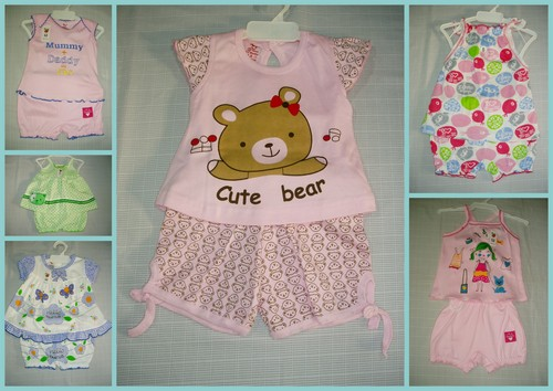 Baby Girl Top & Bloomer Set(Mix&Match)-100% COTTON