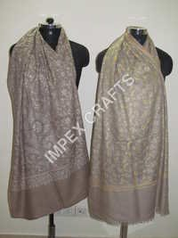 Pashmina With Allover Jaali Handmade