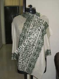 Pashmina Border Black Handmade Scarves