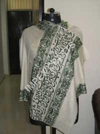Pashmina Border Black Handmade