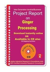 Project Report on Ginger Processing