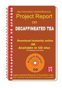Project Report On Decaffineated Tea