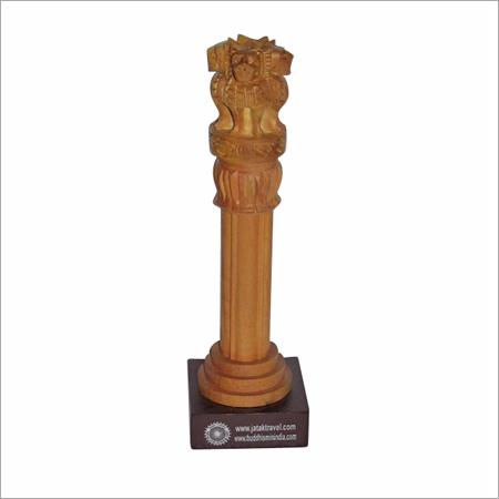 Wooden Ashoka Stambh With branding on base