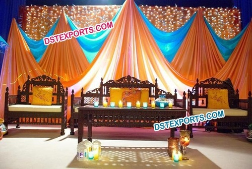 Muslim Wedding Mehandi Stage Furniture