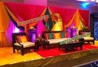 PAKISTANI MEHANDI STAGE SET