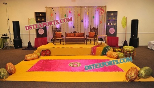 BEAUTIFUL MUSLIM MEHANDI STAGE SET 6753