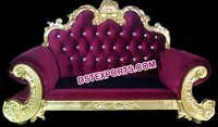 Royal Purlish Wedding Throne