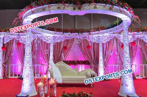 Wedding Carved Floral Mandap