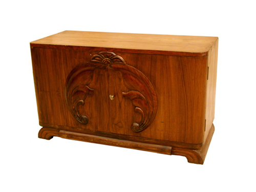 WOODEN ART DECO CABINET
