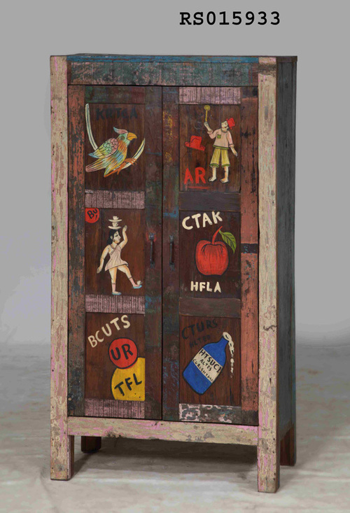 Rustic Painted Cabinet