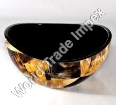Horn Bowl with Natural Skin