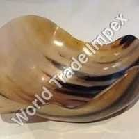 Water buffalo horn bowl