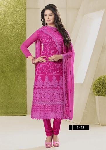 Anakali Designer Pink Colour Suits