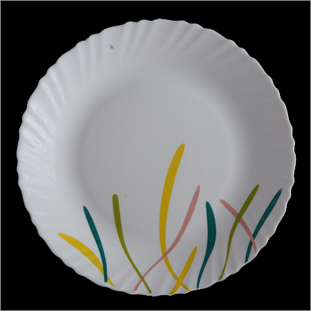 Opal Glass Crockery Plates