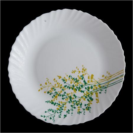 Opal Glass Round Crockery Plates
