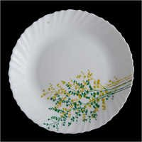 Opal Glass Round Crockery Plates