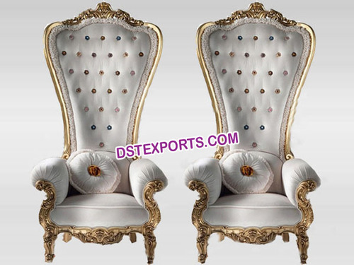Wedding Royal Queen Throne Chairs Set