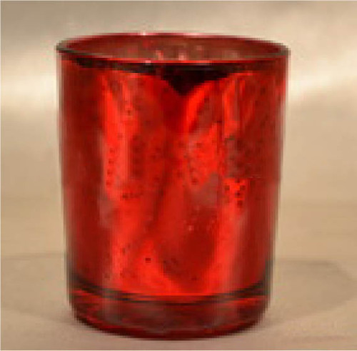 GLASS CANDLE VOTIVE MERCURIC SILVER