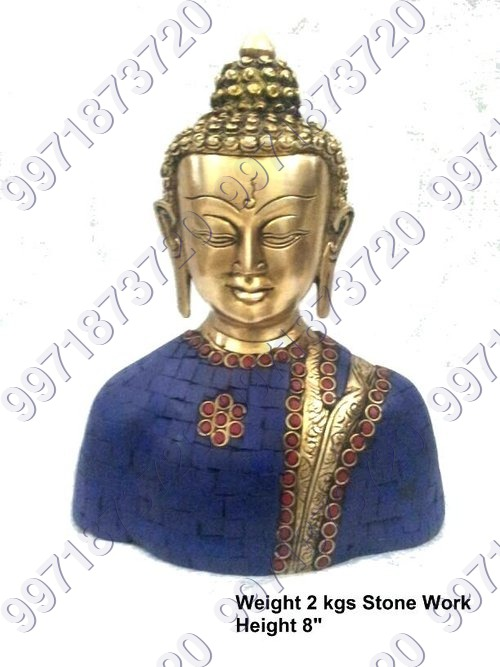 Stone worked buddha statue