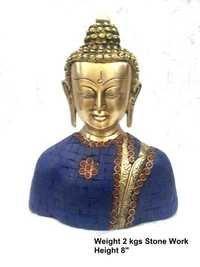 Stone worked buddha statue