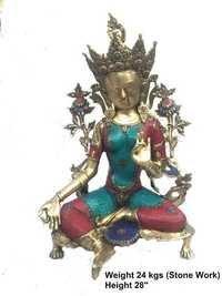 Brass Stone  goddess
