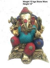 Brass stone Ganash ji