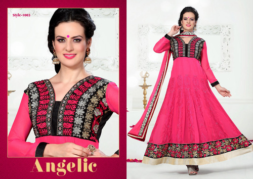 The Red Colour Dress Anarkali