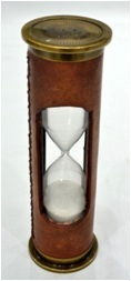 Antique Red Leather Timer