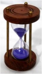Timer on wooden base