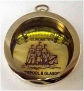 Clinometer Compass Keychain
