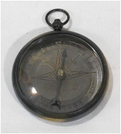 Antique Finish Locket Compass