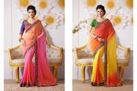 Plain Saree With heavy Blouse
