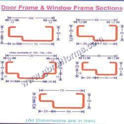Pressed Steel Door Window Section