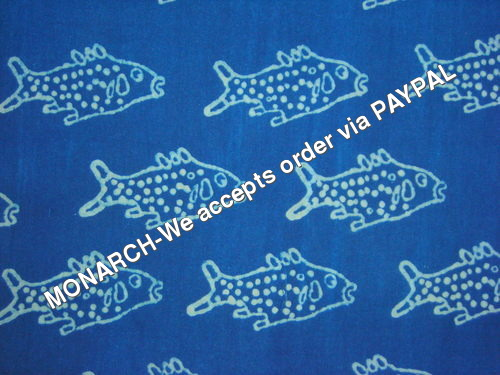 BLUE FISH COTTON FABRIC