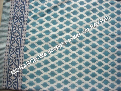BLUE GEOMETRIC COTTON FABRIC