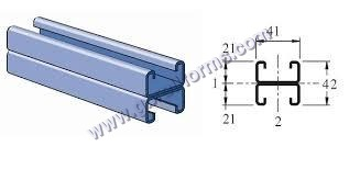 Metallic strut channel