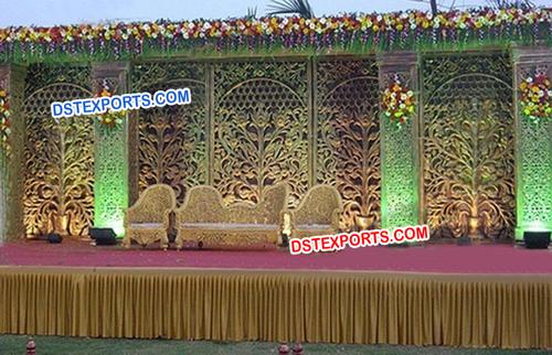 Indian Wedding Carved Panel Backdrop