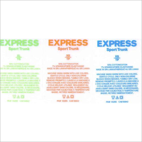 Heat Transfer Garment Apparel Clothing Size Care Label Stickers