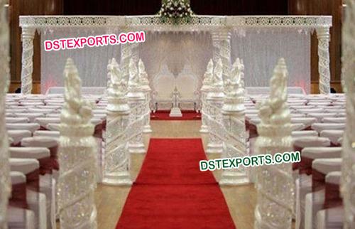 Indian Wedding Silver Crystal Mandap