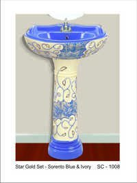 Rustic pedestal wash Basin