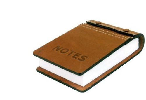 Leather Memo Pad Holder