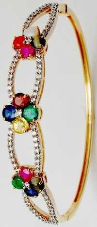 precious navratna gemstone bangle manufacturer
