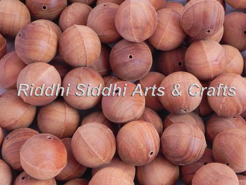 Sandalwood Beads Semi Finished