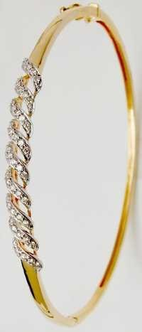 daily wear half bangle jewelry in gold