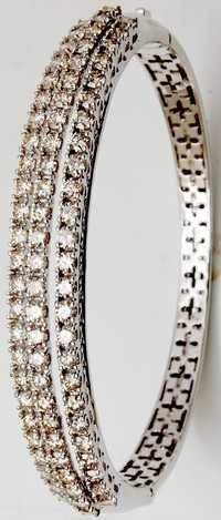 heavy look diamond bangle bracelet