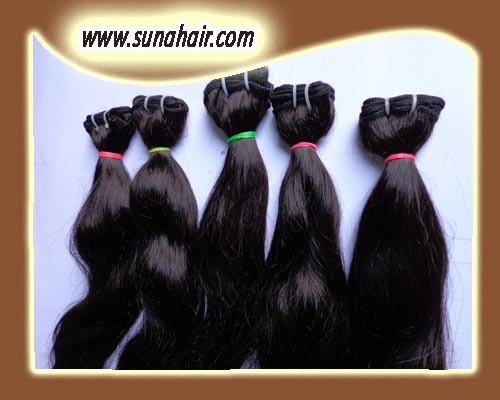 Top quality! remy body wavy human hair 3.5*4 size hair extension