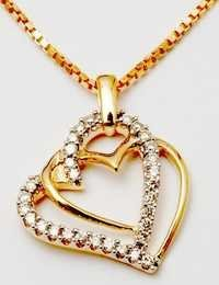 designer yellow gold round diamond pendant