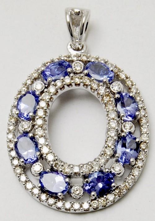 beautiful tenzanite gemstone pendant
